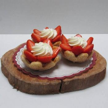 Aardbeienbloemschelp - Ambachtelijke Bakkerij Peters - Leens